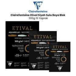 Clairefontaine - Clairefontaine Etival Siyah Sulu Boya Blok 300g 15 Yaprak