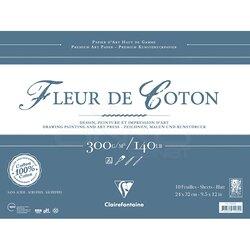 Clairefontaine - Clairefontaine Fleur De Cotton Çok Amaçlı Blok 300g 10 Yaprak (1)