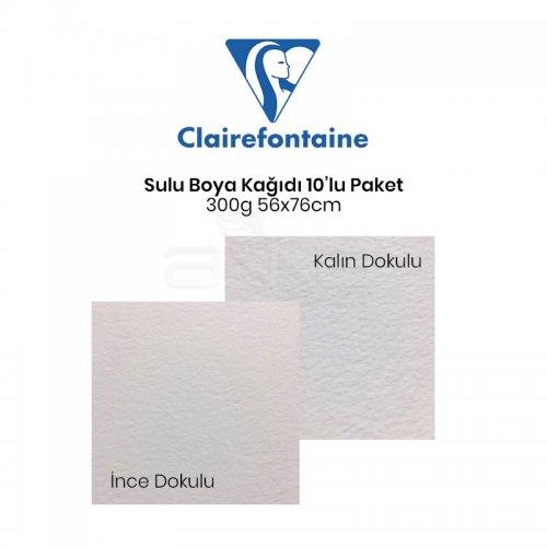 Clairefontaine Fontaine Sulu Boya Kağıdı 10lu Paket 300g 56x76cm