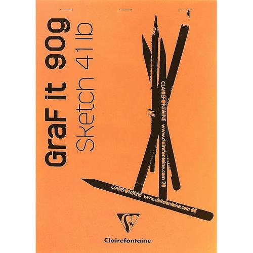Clairefontaine Graf it Beyaz Çizim Blok 90g 80 Yaprak