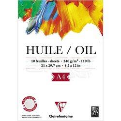 Clairefontaine - Clairefontaine Huile Oil Yağlı Boya ve Akrilik Blok 240g 10 Yaprak (1)