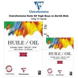 Clairefontaine - Clairefontaine Huile Oil Yağlı Boya ve Akrilik Blok 240g 10 Yaprak