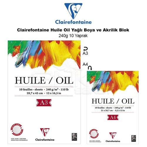Clairefontaine Huile Oil Yağlı Boya ve Akrilik Blok 240g 10 Yaprak