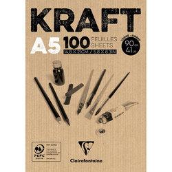 Clairefontaine - Clairefontaine Kraft Çizim Blok 90g 100 Yaprak (1)