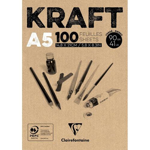 Clairefontaine Kraft Çizim Blok 90g 100 Yaprak