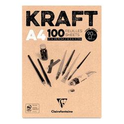 Clairefontaine Kraft Çizim Blok 90g 100 Yaprak - Thumbnail