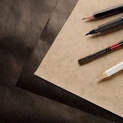 Clairefontaine - Clairefontaine Kraft Kahverengi ve Siyah Çizim Bloğu 90g 60 Yaprak (1)