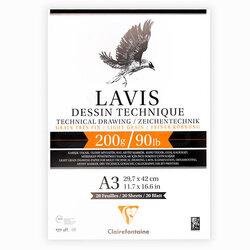 Clairefontaine - Clairefontaine Lavis Dessin Çok Amaçlı Çizim Defteri 200g 20 Yaprak (1)