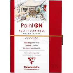 Clairefontaine - Clairefontaine Paint On Mixed Media Beyaz Blok A5 250g 32 Yaprak