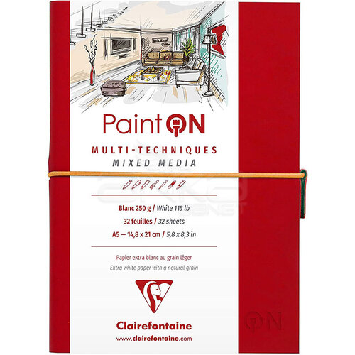 Clairefontaine Paint On Mixed Media Beyaz Blok A5 250g 32 Yaprak