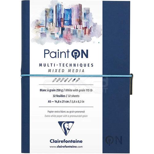 Clairefontaine Paint On Mixed Media Beyaz Dokulu Blok A5 250g 32 Yaprak