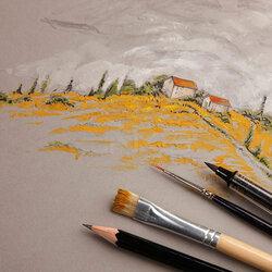 Clairefontaine Paint On Mixed Media Gri Blok A5 250g 32 Yaprak - Thumbnail