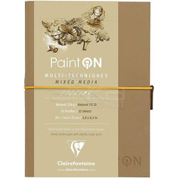 Clairefontaine Paint On Mixed Media Naturel Blok A5 250g 32 Yaprak - Thumbnail
