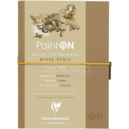 Clairefontaine Paint On Mixed Media Naturel Blok A5 250g 32 Yaprak
