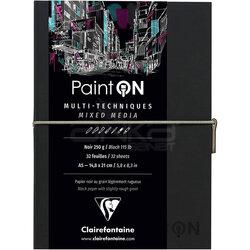 Clairefontaine Paint On Mixed Media Siyah Blok A5 250g 32 Yaprak - Thumbnail