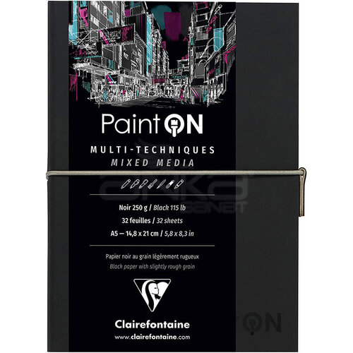 Clairefontaine Paint On Mixed Media Siyah Blok A5 250g 32 Yaprak