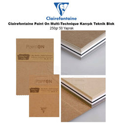 Clairefontaine Paint On Multi-Technique Karışık Teknik Blok 250g 50 Yaprak - Thumbnail