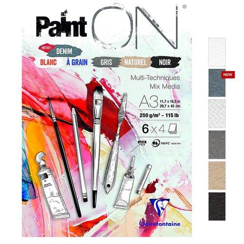 Clairefontaine Paint On Multi-Techniques 6 Renk 24 Yaprak 250g