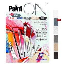 Clairefontaine Paint On Multi-Techniques 6 Renk 24 Yaprak 250g - Thumbnail