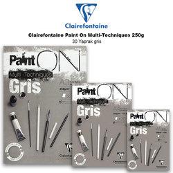 Clairefontaine Paint On Multi-Techniques 250g 30 Yaprak Gris - Thumbnail
