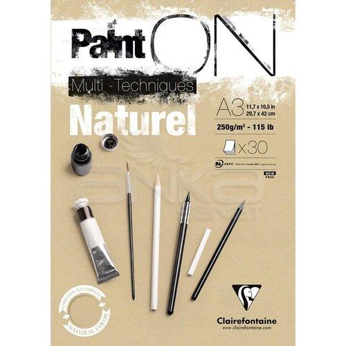Clairefontaine Paint On Multi-Techniques Naturel 250g 30 Yaprak