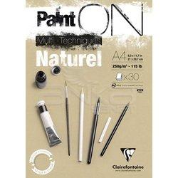 Clairefontaine Paint On Multi-Techniques Naturel 250g 30 Yaprak - Thumbnail