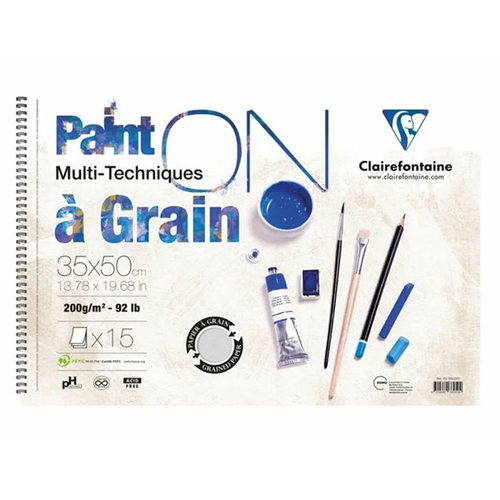 Clairefontaine Paint On Starter Multi-Techniques Spiralli 160g
