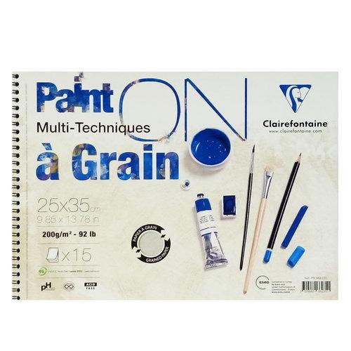 Clairefontaine Paint On Multi-Techniques Teknik Blok Spiralli 200g