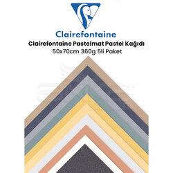 Clairefontaine - Clairefontaine Pastelmat Pastel Kağıdı 50x70cm 360g 5li Paket