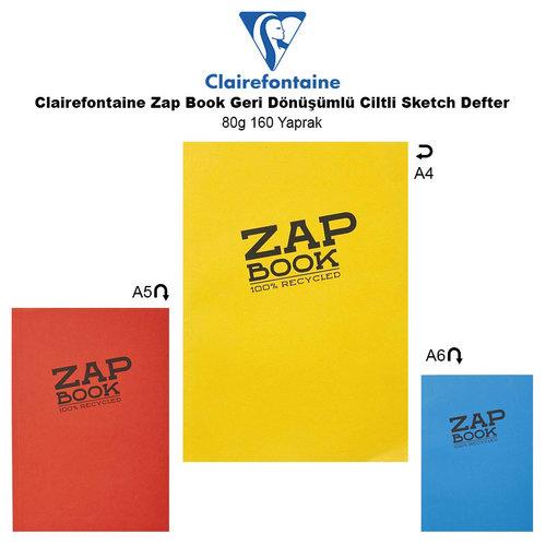 Clairefontaine Zap Book Geri Dönüşümlü Ciltli Sketch Defter 80g 160 Yaprak