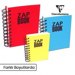 Clairefontaine - Clairefontaine Zap Book Uzun Kenarı Spiralli Sketch Defter 80g 160 Yaprak (1)
