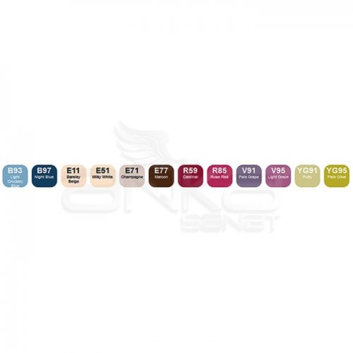 Copic Ciao Marker 12li Set Nostalgie Colors
