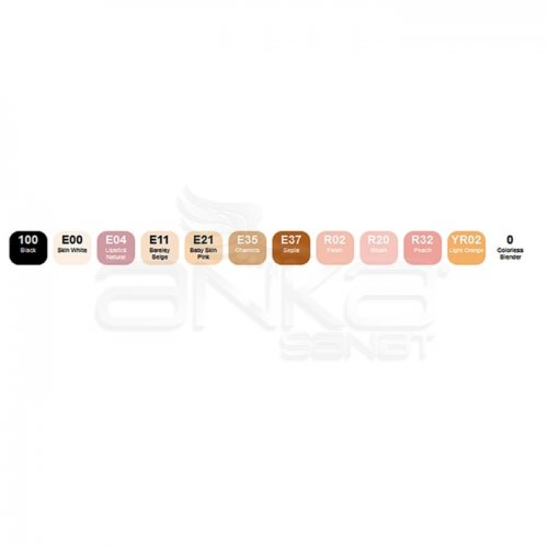 Copic Ciao Marker 12li Set Skin Tones