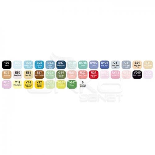 Copic Ciao Marker 36lı Set Brilliant Colors