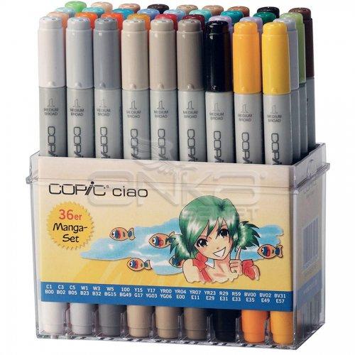 Copic Ciao Marker 36lı Set Manga