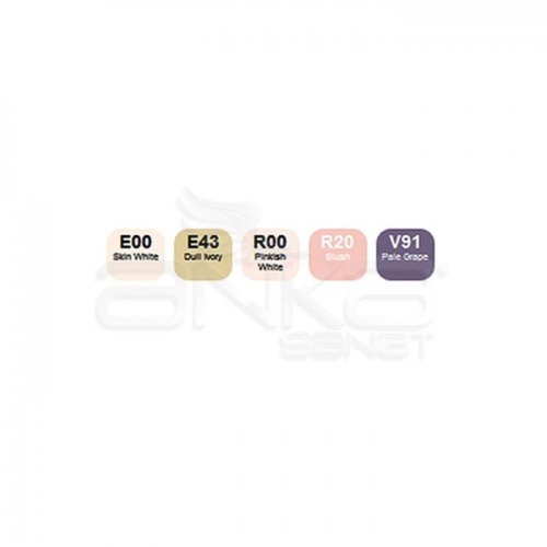 Copic Ciao Marker 5+1 Set Skin Tones