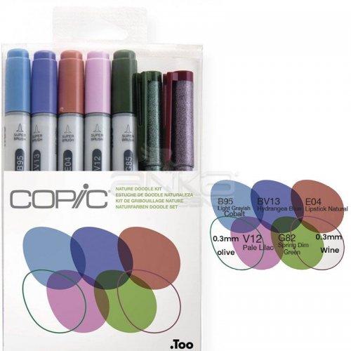 Copic Ciao Marker 5+2 Set Nature Doodle Kit