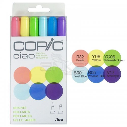 Copic Ciao Marker 6lı Set Brights