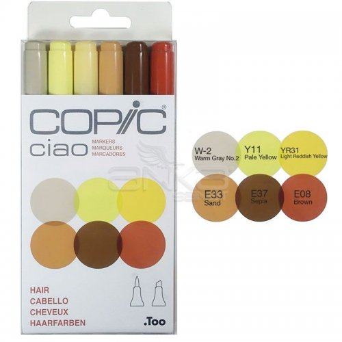 Copic Ciao Marker 6lı Set Hair