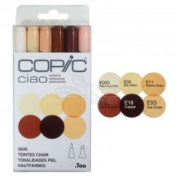 Copic Ciao Marker 6lı Set Skin - Thumbnail