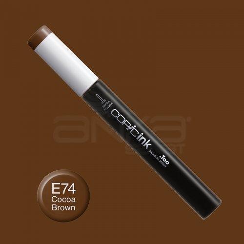 Copic İnk Refill 12ml E74 Cocoa Brown