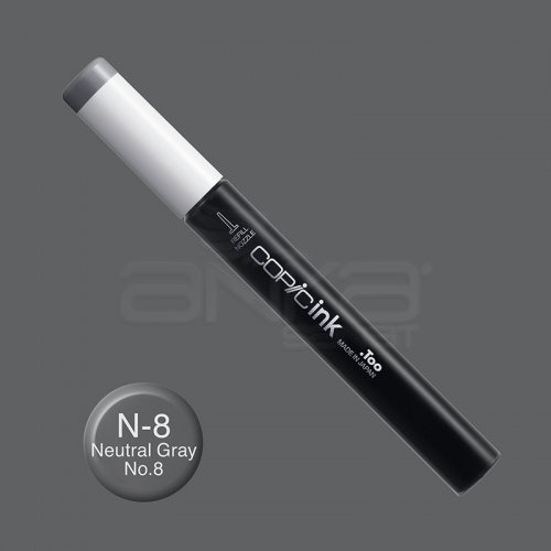 Copic İnk Refill 12ml N-8 Neutral Gray No.8