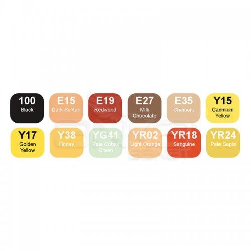 Copic Marker 12li Set Autumn Colors