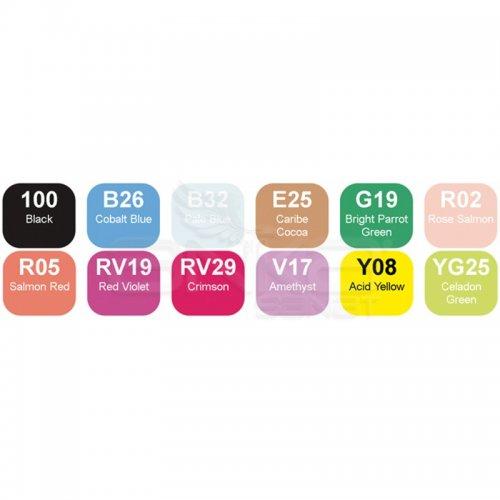 Copic Marker 12li Set Summer Colors