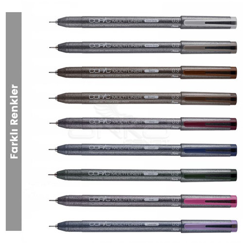 Copic Multiliner Teknik Çizim Kalemi 0,3mm