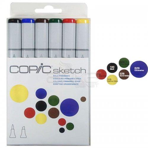 Copic Sketch Marker 6lı Set Bold Primaries