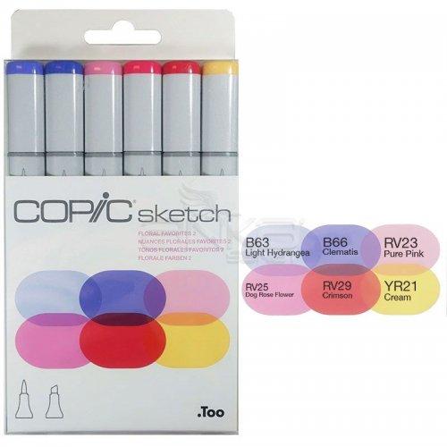 Copic Sketch Marker 6lı Set Froral Favorites 2