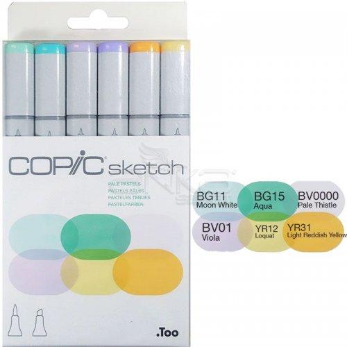 Copic Sketch Marker 6lı Set Pale Pastels