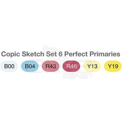 Copic Sketch Marker 6lı Set Perfect Primaries