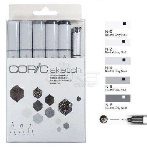 Copic Sketch Marker 6lı Set Sketching Grays